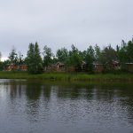 Here's a view of the cottages while we were out on the paddleboat.