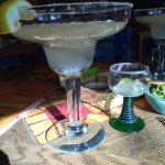 There are 2 sizes of margaritas - tiny and gigantic!