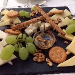Shared cheese platter
