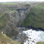 The impressive Tintagel Castle.