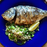 Sea bream with cous cous