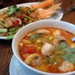 Mixed fish Thai salad and Hot & Sour soup