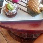 moelleux chocolat, glace vanille pacane, crème anglaise