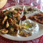 Excellents mezzés libanais ce midi !