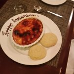 Our anniversary dessert :) - Berries and creme brulee