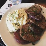 tenderloin medallions and truffled mashed potatoes