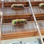 Balkon mit Ausblick zum Rosengarten