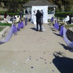 Wedding AT the Park in front of the lake at the gazebo