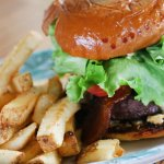 """The Overseer Burger"" American Kobe Style Beef - Half-pound local Okanogan Wagyu beef, pecan smo"