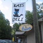 Sign out front of Kat's Deli