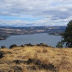 Columbia River from East side trail to Mosier Twin tunnel, Mosier, OR