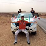 With Hamid in our decorated car