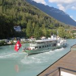 The paddle steamer departing for Lake Brienz. This is floor two with a balcony