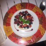 The best dessert ever ..... Pavlova with Mascarpone and lime covered in exotic fruits.