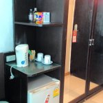 Wardrobe (with full length mirror) and coffee making facilities along with minibar