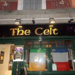 The Celt pub with the flags from the Rugby World Cup
