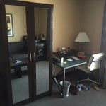 Room 405 armoire and desk area