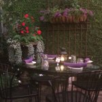 Table setting in the patio