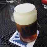 beer about 1/4 foam