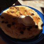 chocolate chip and banana pancakes