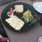 Pate starter with a Foie Gras centre. Well presented and sufficient in size.