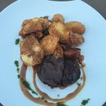 Limousin steak with rosti potatoes. The steak was so tender and cooked to perfection.