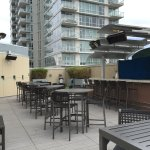 Level 9 outdoor bar and lounging area.