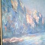 Closeup of a section of a Monet (I was studying the brush-stroke techniques)