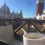 morning espresso over san marco
