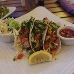 Fish tacos and havana chicken! Yummy!