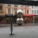 Balls in the rain