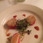Scallops on watermelom