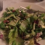 Salad with apples walnuts and Roquefort