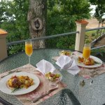 Italian Chef prepared & delivered scrumptious breakfast to our balcony.