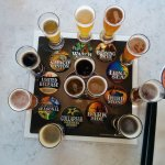 Beer flight mentioned in review