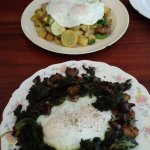 The hash above and the polenta dish below