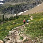 Hiking the Downhill Portion of Hidden Lake