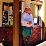 The Chef statue at front door