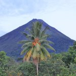 Arenal Volcano from the 2nd floor balcony(above room 21)