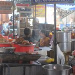 Food stalls in the heart of the market
