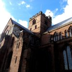 Carlisle Cathedral directly behind hotel.