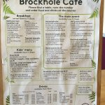 Brockhole Cafe Menu on the table