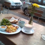 breakfast today, one of the salads would have made a better picture perhaps