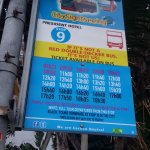 City Sightseeing bus schedule outside hotel