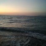 Sunset with Turkey coastline