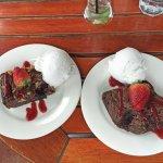 Generous sized desserts