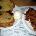 Grilled Muffin and a side of Corned Beef Hash