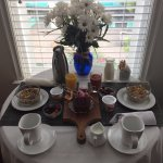 Breakfast brought to your room each morning! Wonderful!