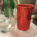 ½ litre of house wine served in metal jug - nice touch