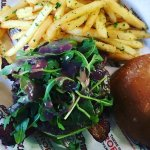 port burger with truffle fries